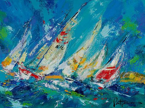"Sailing 1 - Original 18"" x 24"""