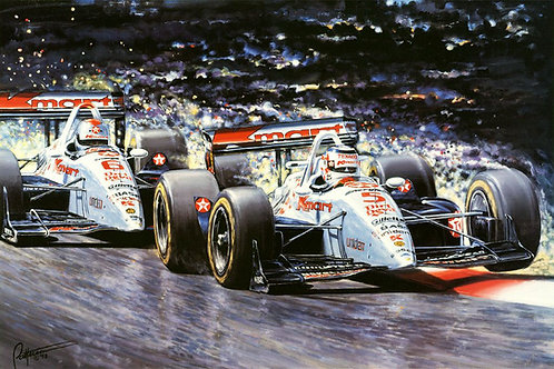 """Give No Quarter"" Signed by 1993 Indycar champion Nigel Mansell"