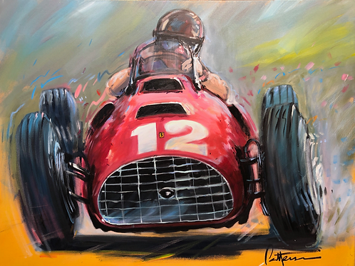 The Pampas Bull - 1951 British Grand Prix - Giclee on Canvas