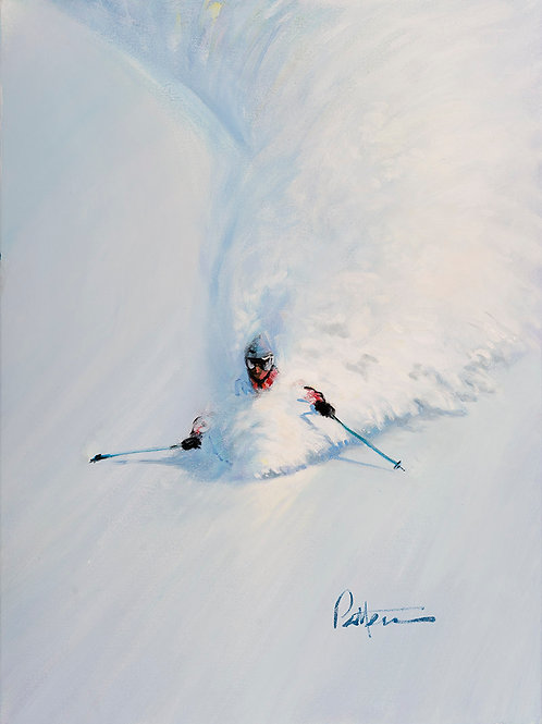 Untitled Skier 6  -Print on Metal
