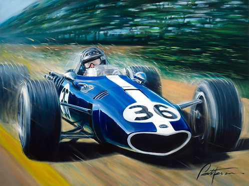 Gurney Wins Spa! - Hand signed by Dan Gurney