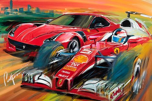 Pirelli Pzero Ferrari - Limited Edition Print