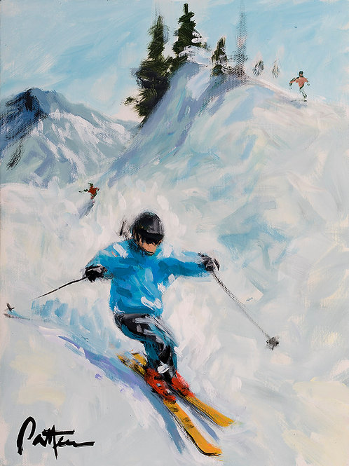 Untitled Skier 3 - Print on Metal