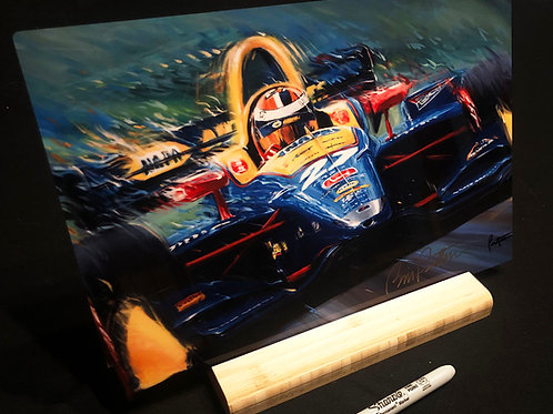 "Rossi! -  12"" X 8"" Print on aluminum with stand"