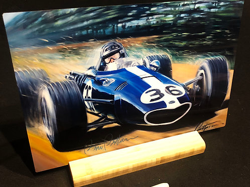 """Gurney Wins Spa!-  12"""" X 8"""" Print on aluminum with stand"""