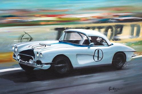 Corvette at Le Mans 1963 - Giclee on Canvas