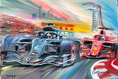 Live from COTA F1 2019!  - Giclee on Canvas