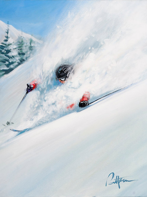 Untitled Skier 7   - Print