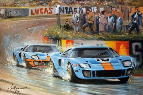 GULF GT40's Le Mans