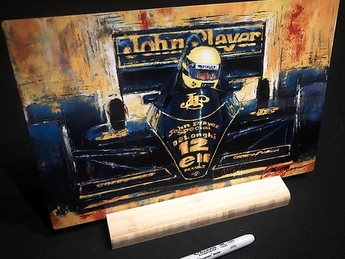 """Tabac (Senna at Monaco) -  12"""" X 8"""" Print on aluminum with stand"""