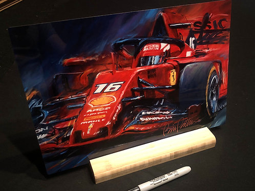 """Leclerc -  12"""" X 8"""" Print on aluminum with stand"""