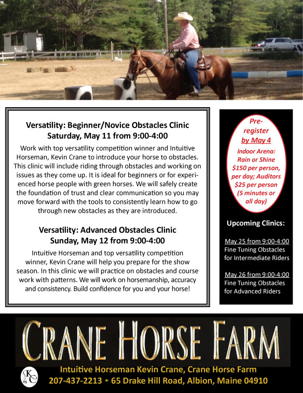2019 May 11 and 12 Obstacles Vers Clinic