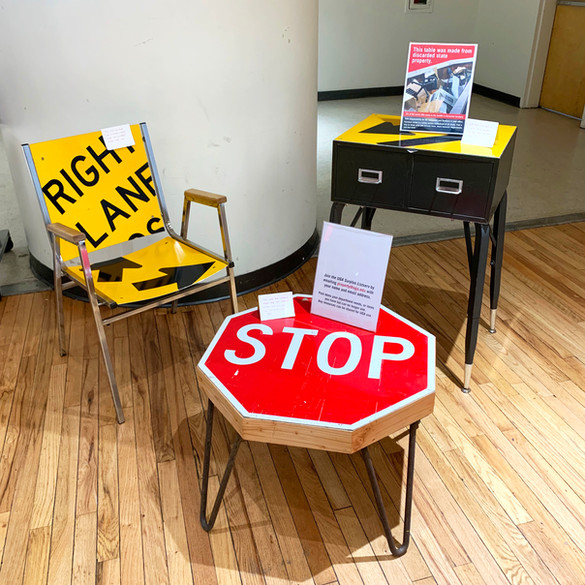 Reclaimed Materials Display