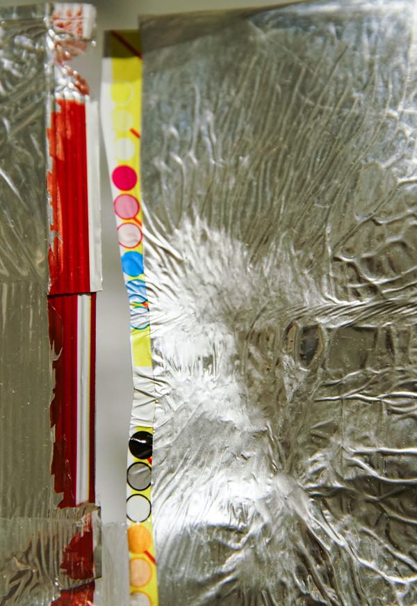 Chip bag installation detail