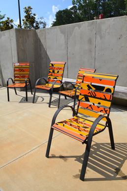 Slat Chair Set