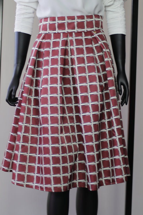 W20 Import Red Check Skirt