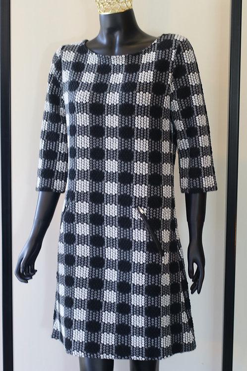 W20 Import Black/White Dress