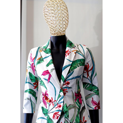 RINA S20 White Flower Jacket