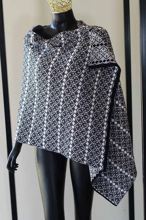 Dedani W20 Black And White Cotton Scarf