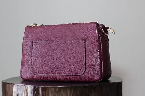 W20 import Burg Leather Bag