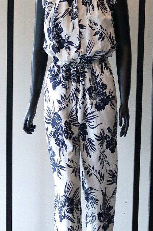 RINA S20 Blue Print Jumpsuit