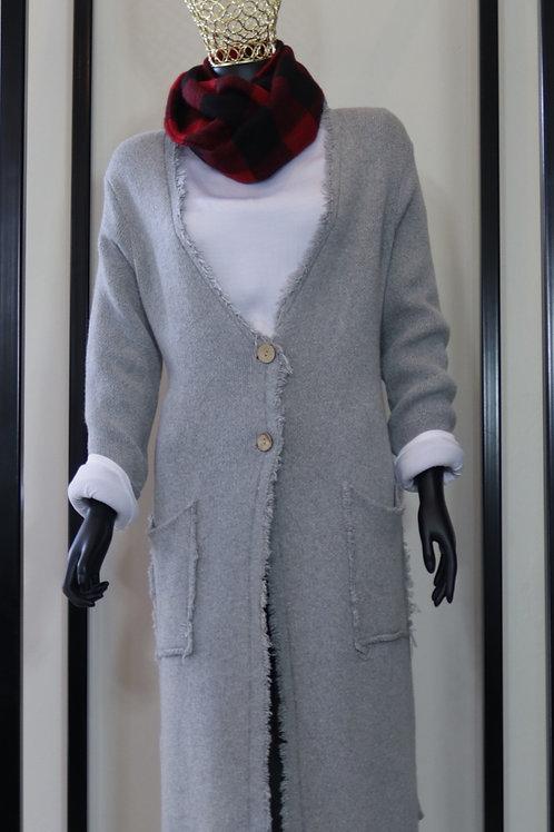 W20 Import Grey Knit Coat