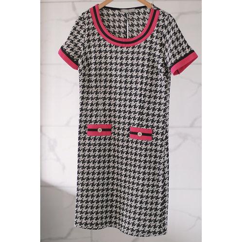 FAS S20 Adriana Houndstooth Dress