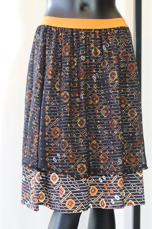 W20 Import Black/Orange Skirt