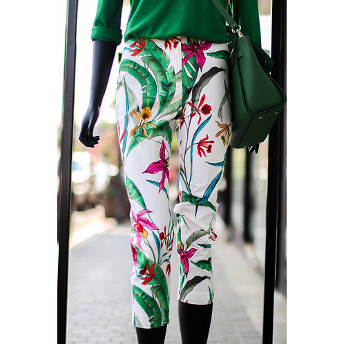 RINA S20 White Flower Pant