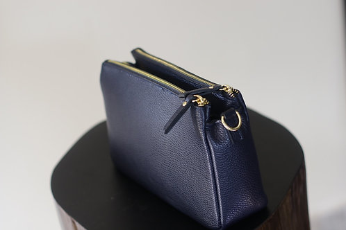 W20 Import Navy Leather Bag