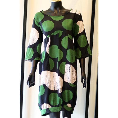 BEL S20 GREEN SPOT DRESS 014