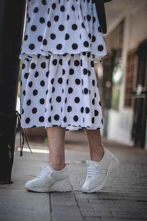PROG S20 Blk/Wht Dot Dress 481
