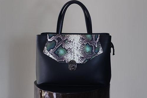 S19 Import 3511 Ruga Black Snake Bag