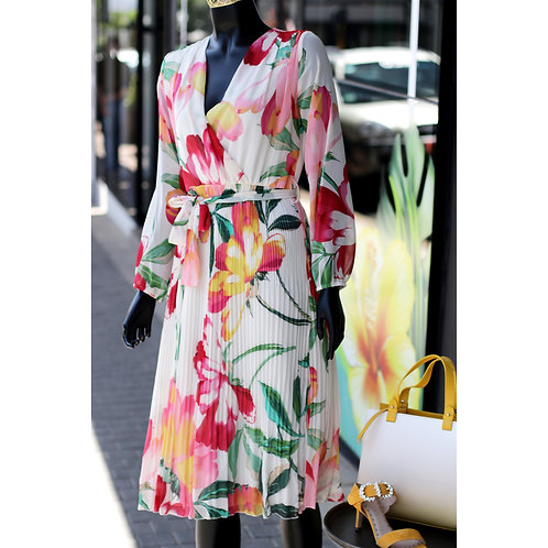 FILL S20 Rob CRM Floral Dress