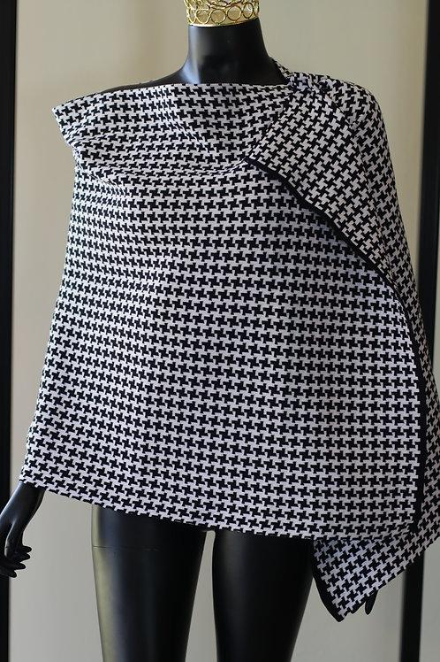 Dedani W20 Black and White Cotton Scarf
