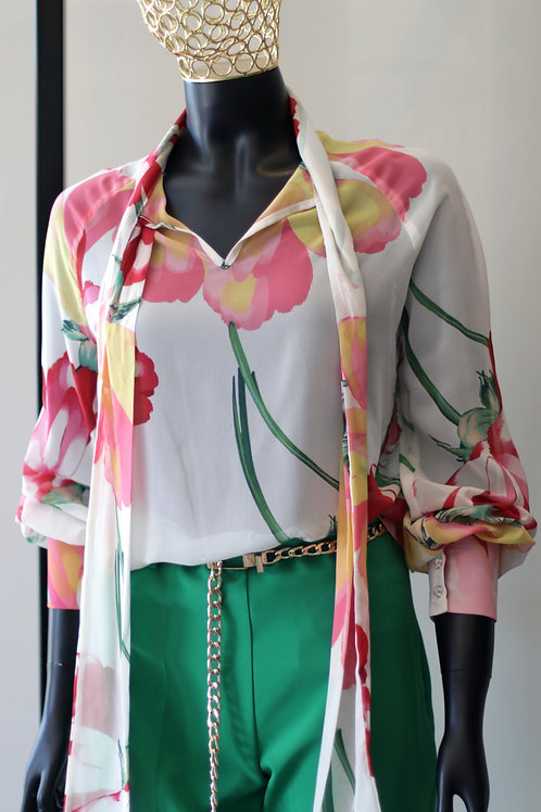 Fill S20 HTS Cream Floral Top