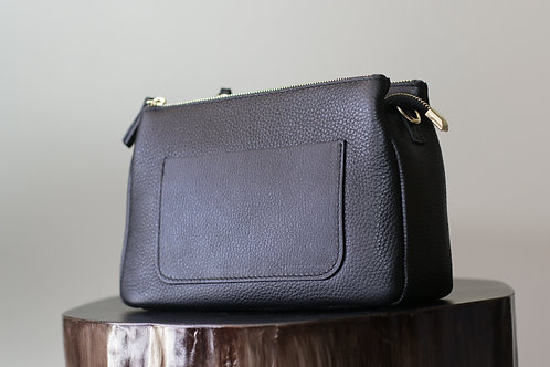 W20 Import Black Leather Bag