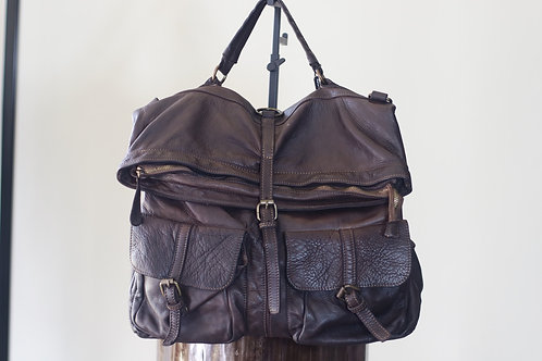 W20 Import Brown Leather Bag
