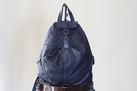 W20 Import Blue Leather Bag
