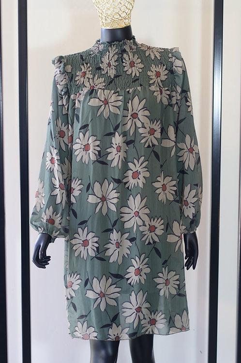 W20 Import Green Floral Dress