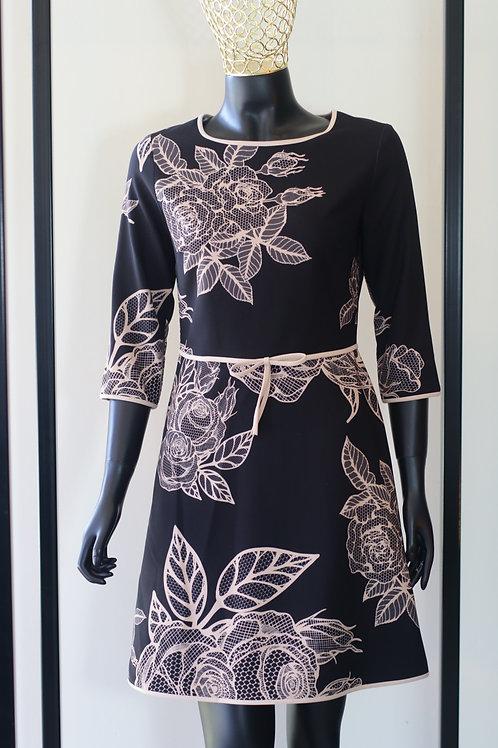 W20 Import Abito Black Flower Dress