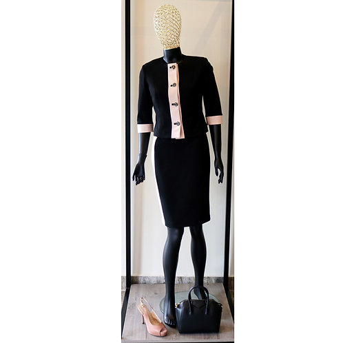 Rina S20 Black Nude Dress