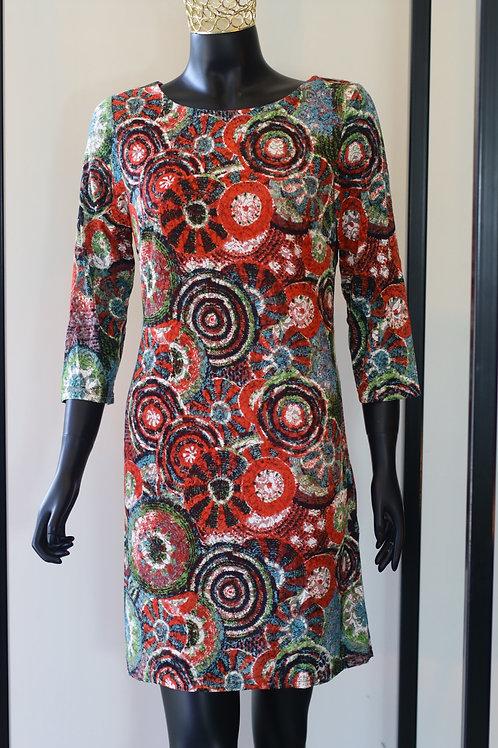 W20 Import Red Print Dress