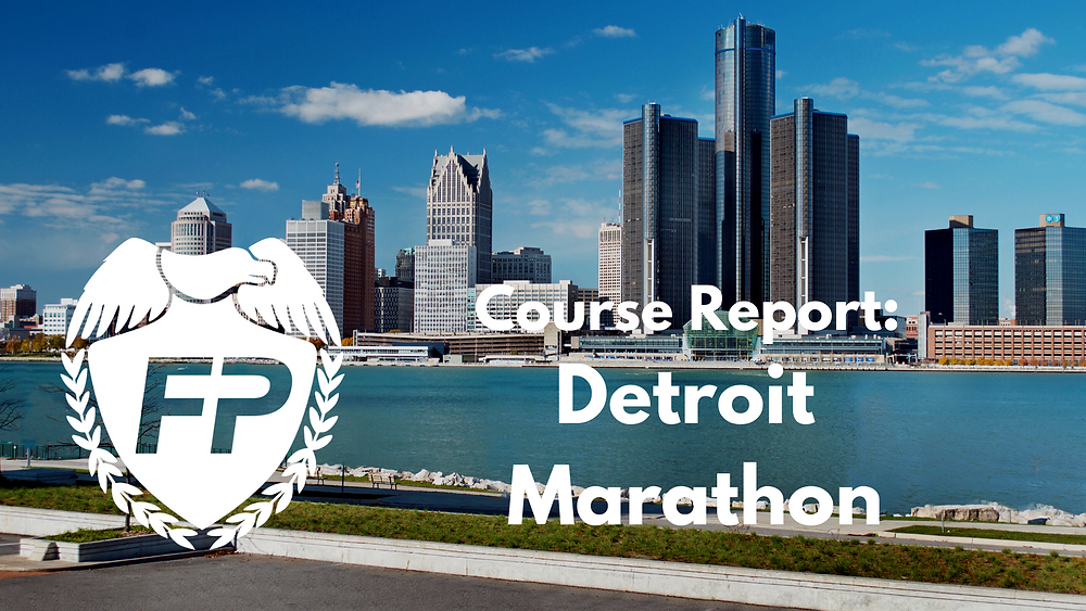Detroit Marathon Course Report
