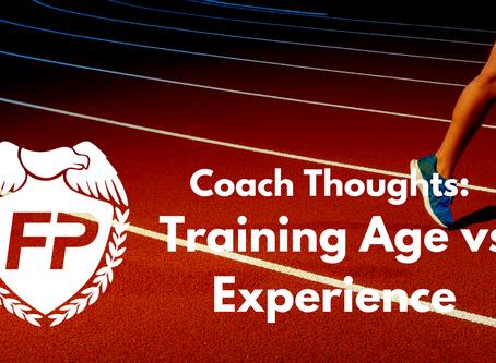 Training Age vs. Experience