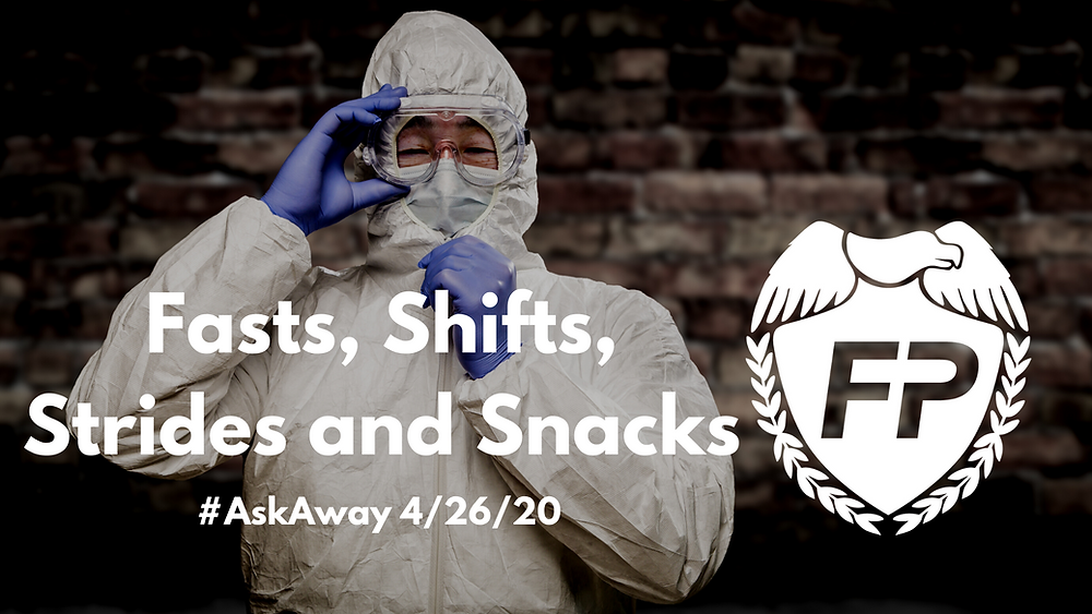 doctor with PPE Covid gear goggles mask gloves running life podcast