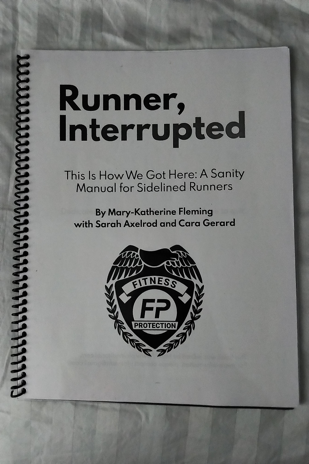 Runner, Interrupted Activity Book MK Fleming Fitness Protection Program