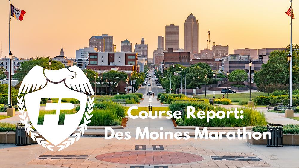 Des Moines Marathon Course Strategy Runner