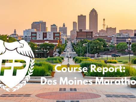 Des Moines Marathon Course Report