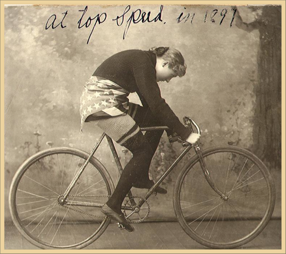 Tillie the Terrible Swede on her Bicycle 1897